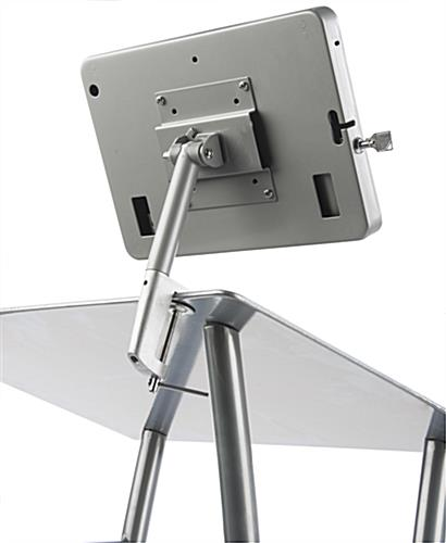 Rotating & Tilting Silver iPad Lecture Stand