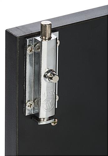 Lockable Restaurant Host Stand Also has an Inside Lock for Additional Security