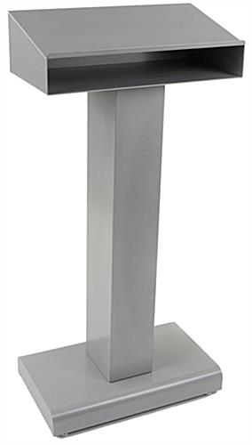 Closed Front Silver Steel Podium For School Classrooms