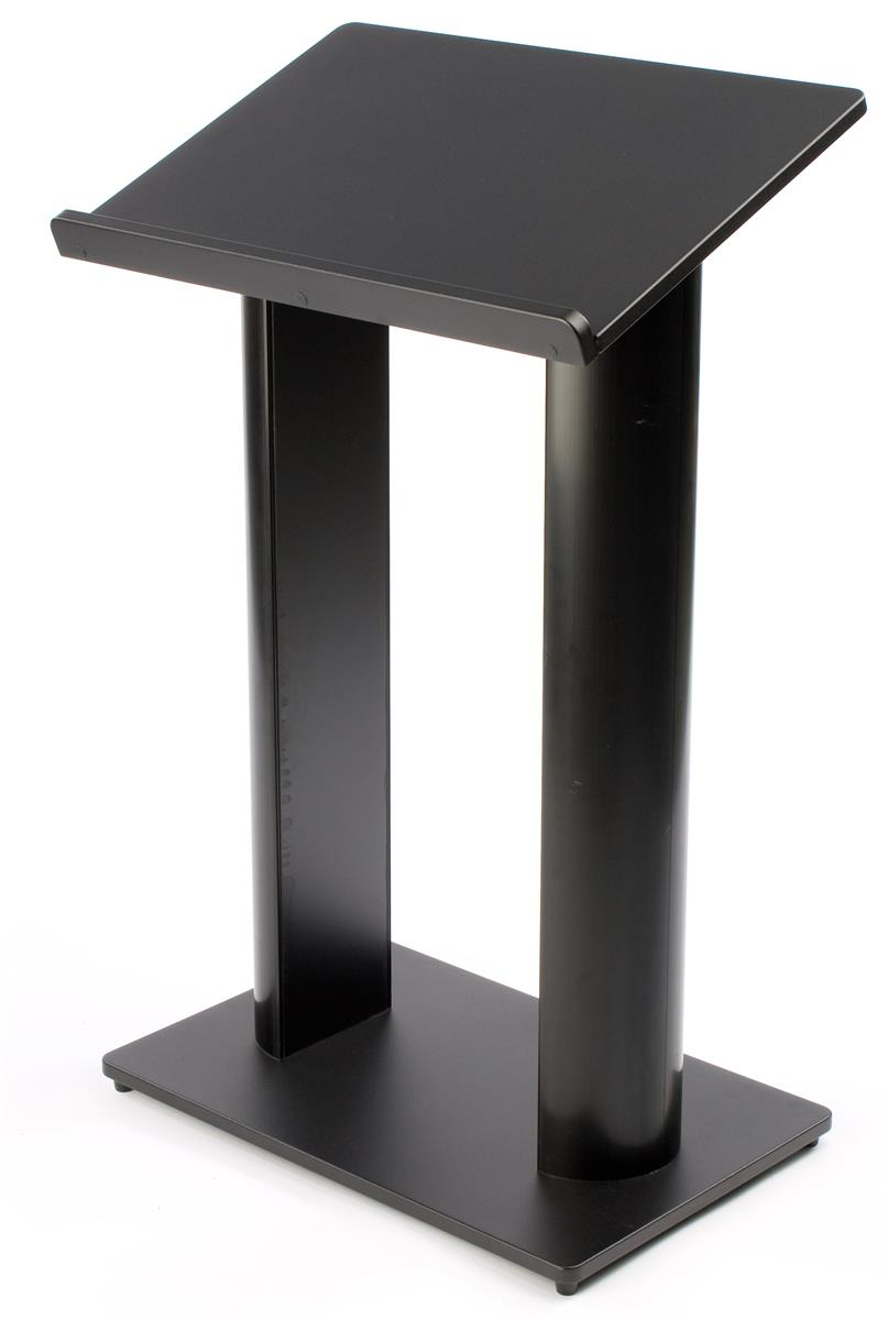 Black Lightweight Lectern Durable Construction