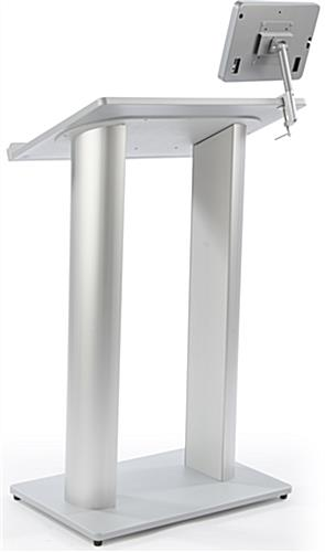 Silver Podium with iPad Mount