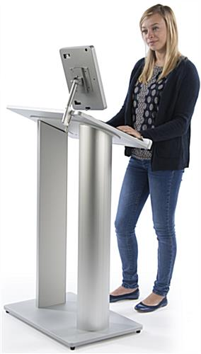 Podium with iPad Mount is Great for Lecturing