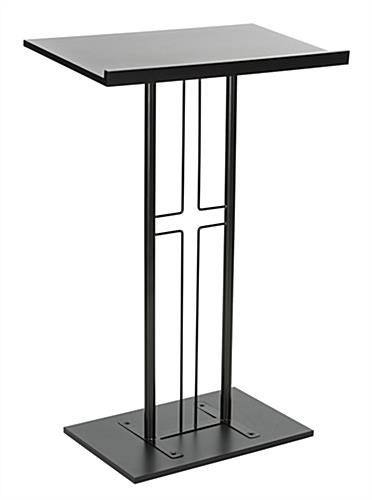 Black Steel Cross Podium