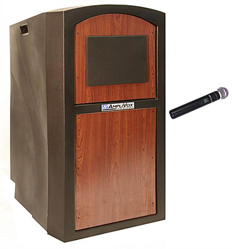 Sound System Lectern with 2 Built-in Speakers
