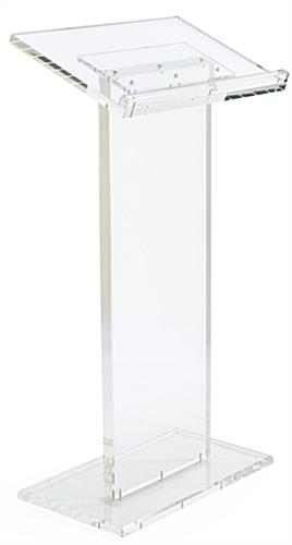 Acrylic Lectern Podium Ships Knocked Down for Cheap Shipping