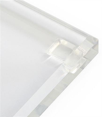 Transparent Podium has Beveled Edge Base