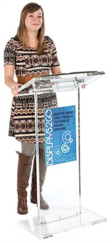 Transparent Podium is Perfect for the Next Tradeshow