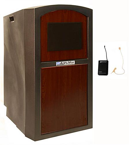 Rolling Portable Lectern with Sound System