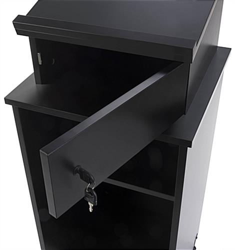 Mobile Podium with Lockable Storage