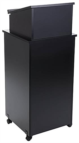 Mobile Podium with Adjustable Shelf