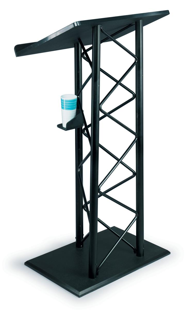 Displays2go Workshop Series Truss Podium for Floor, Cup H...