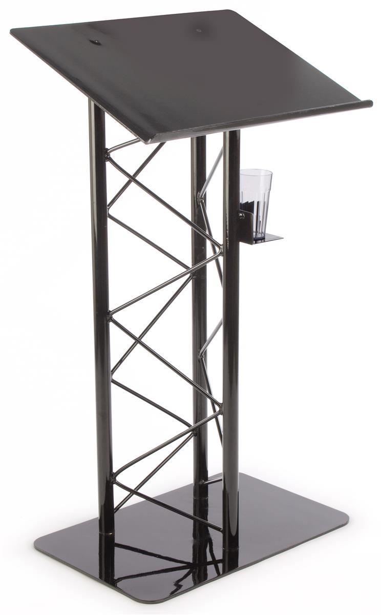 Black podium aluminum truss design with shelf for Buy truss