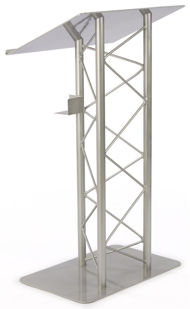 Displays2go Truss Podium for Floor, Cup Holder, Aluminum ...