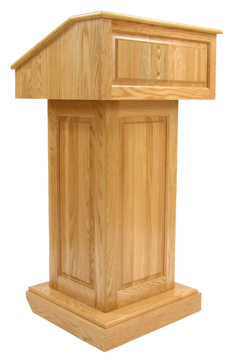 Solid Wood Podium Light Oak Church Furniture