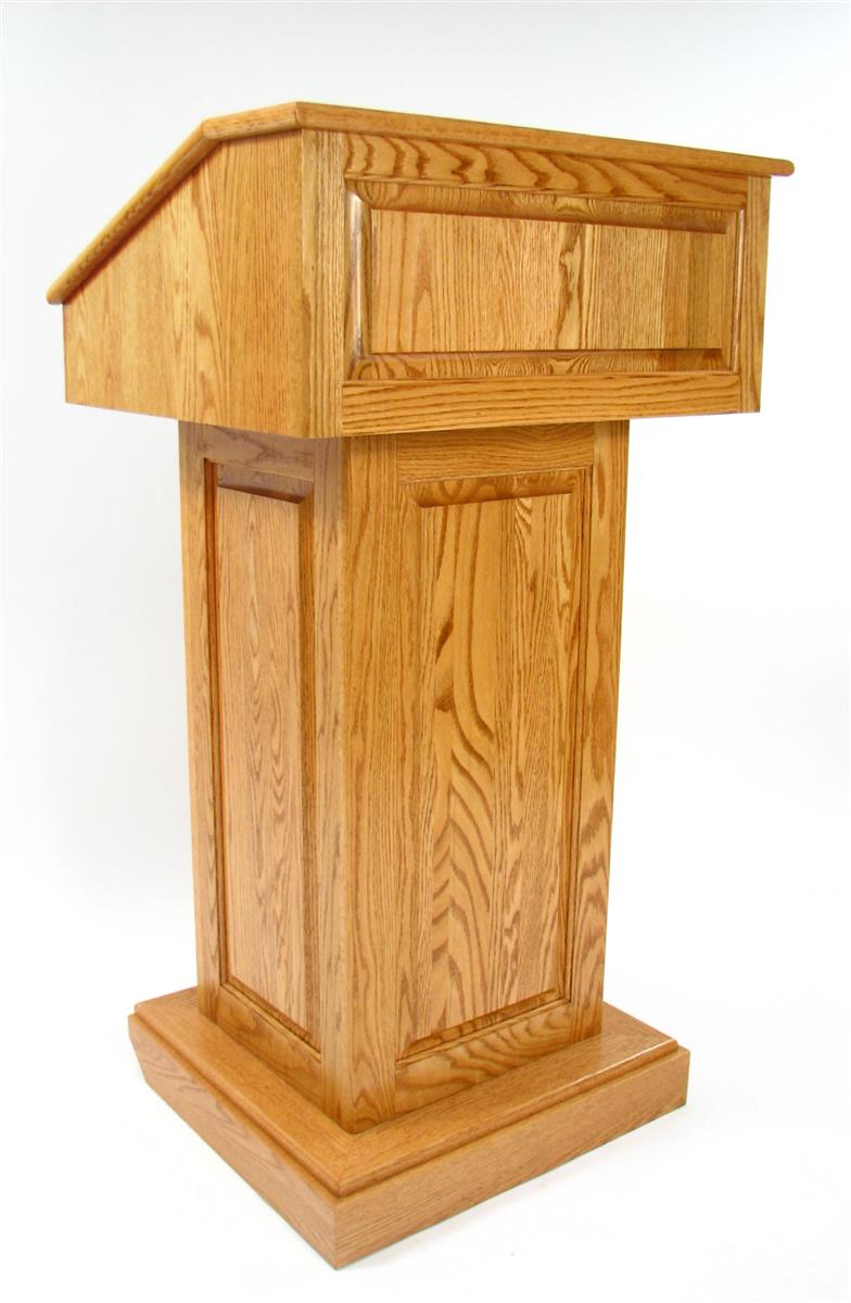 Solid Wood Podium Convertible Lectern