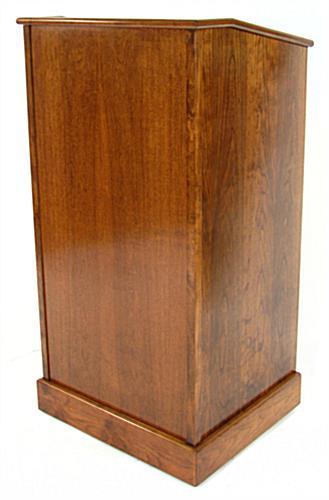Podium Stand Public Speaker Lectern W Doors Amp Wheels
