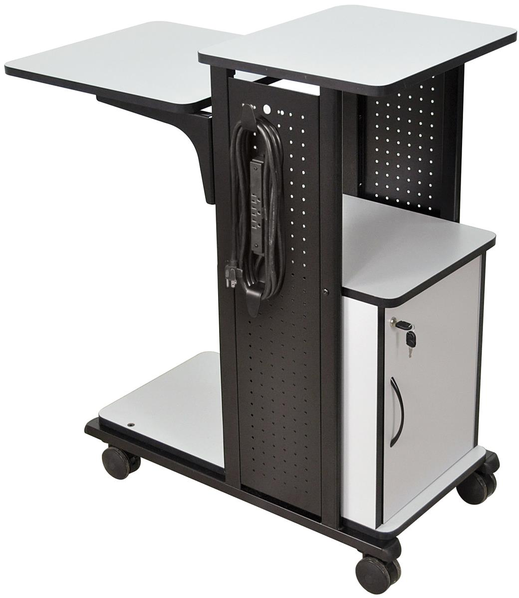 locking computer cabinet notebook computer desk 3 electrical assembly 22772