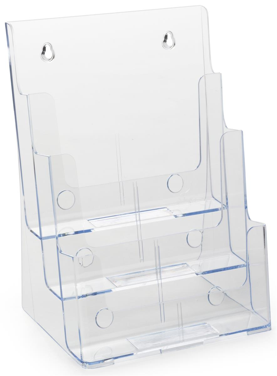 Plastic Magazine Display Molded Holder With 3 Tiers