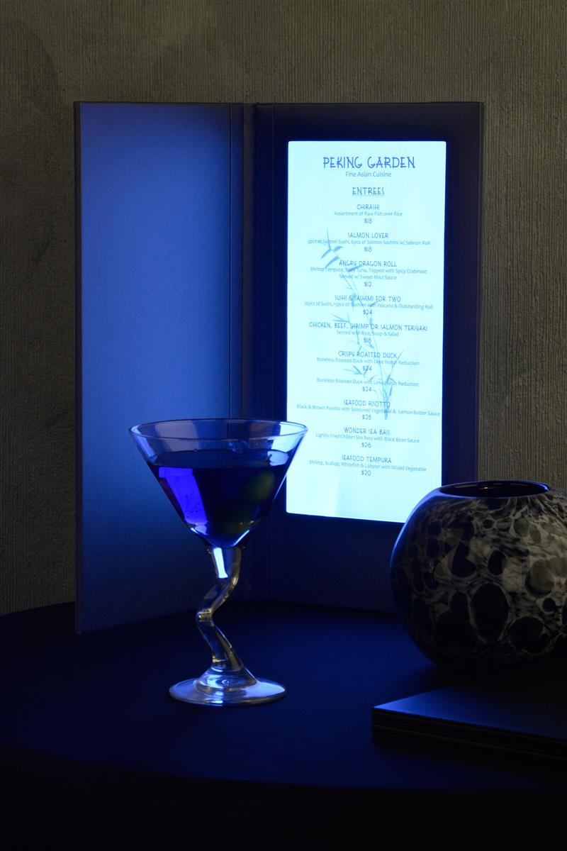 Illuminated Menu Light Up Display For Upscale Restaurants