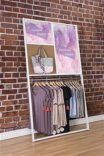 2 custom posters with leaning wall advertising display rack