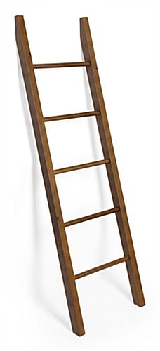 Wooden leaning ladder rack