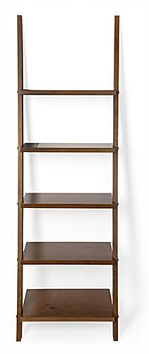 Wall anchors included for shelf ladder bookcase