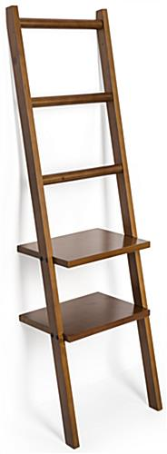 Dark Brown Leaning Ladder Rack Shelving