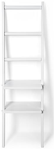 Leaning Ladder Rack Shelves with Wall Mounting Brackets