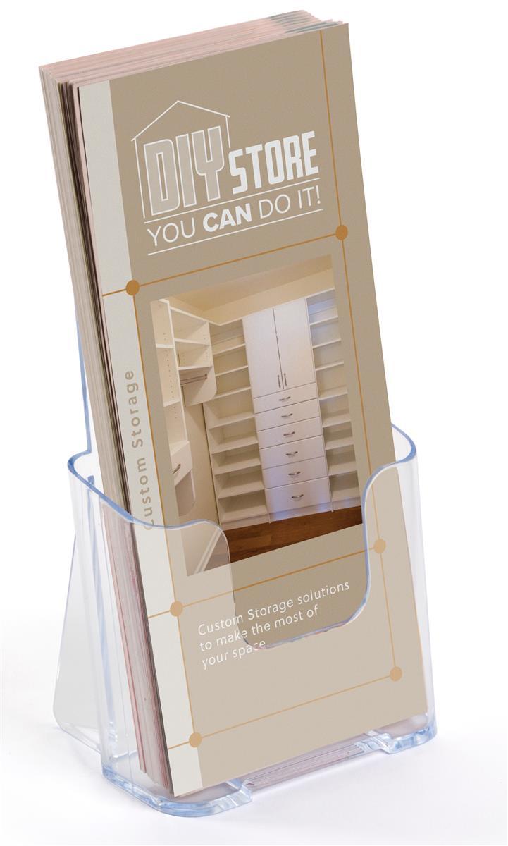 MaxGear 18 Pack 4-Inch Wide Acrylic Brochure Holder Clear Literature Holder Plastic Brochure Stand Brochure Display Holder for Flyer,Menu,Pamphlet,Booklet