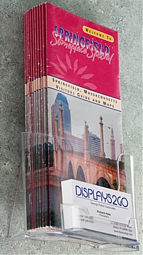 Brochure Holder for 4x9 Literature with High Back Pocket
