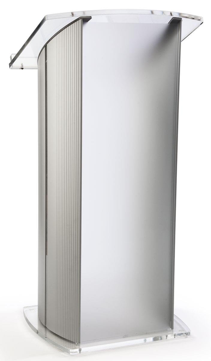 Modern Lectern Frosted Front Panel Amp Rubber Feet