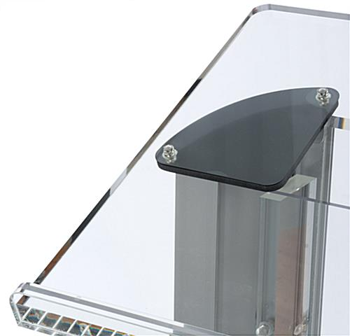 Acrylic podium with book stop