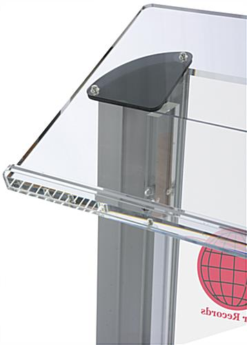 Plastic Lectern with Multi-Color Imprint, Large Reading Area