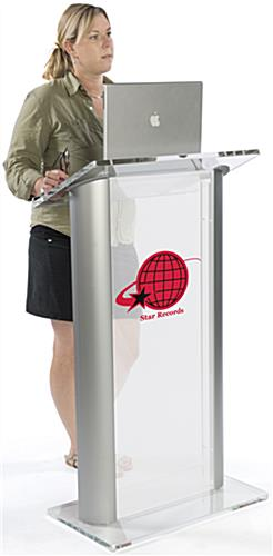 Plastic Lectern with Multi-Color Imprint for Universities