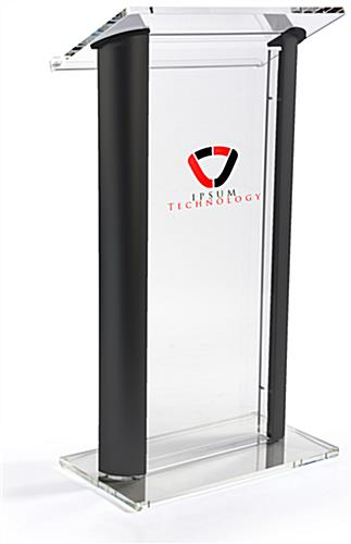 Clear & Black Podium with Large Reading Surface