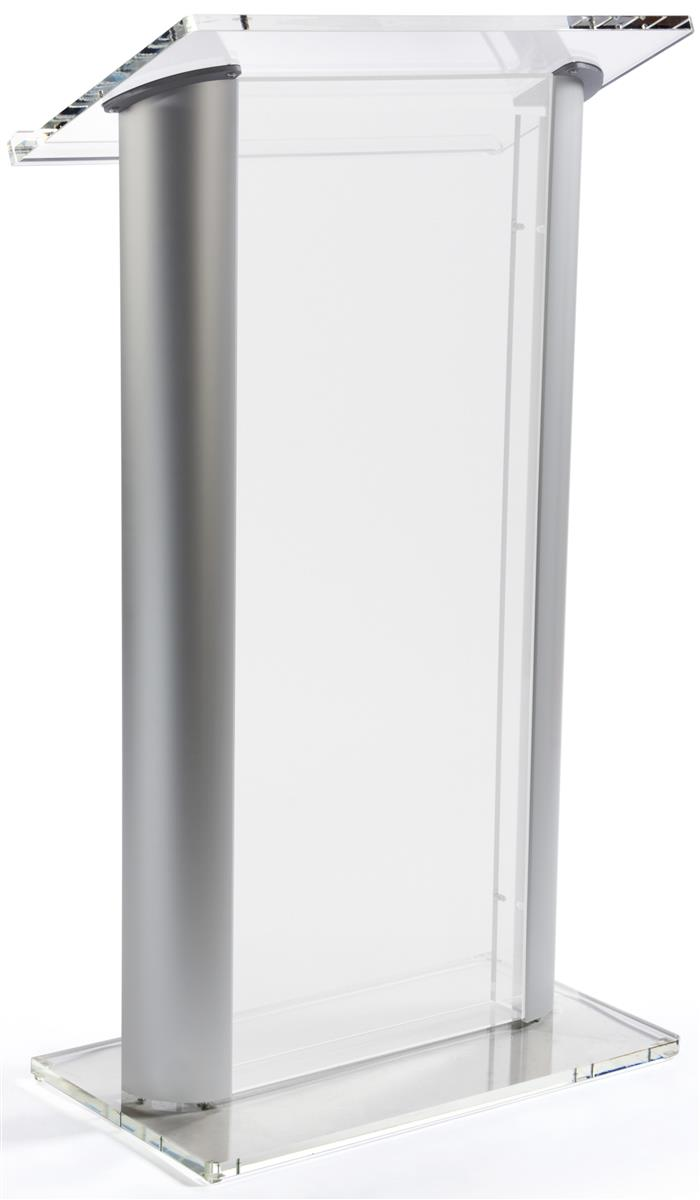 Frosted Plastic Lectern Aluminum Sides