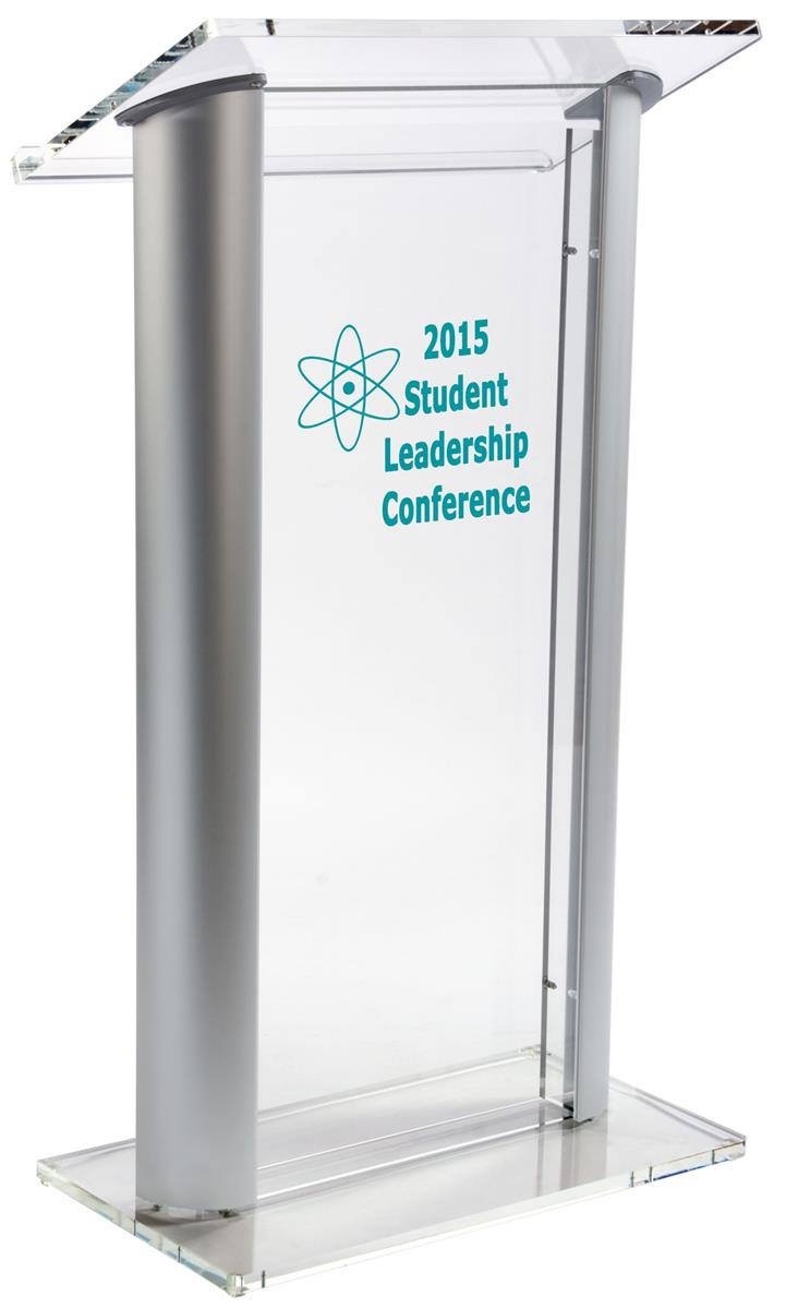 Acrylic Podium Stand Speakers Stand W Rubber Feet