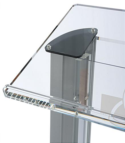 Acrylic Pulpit with Trinity Cross has a Large Reading Surface