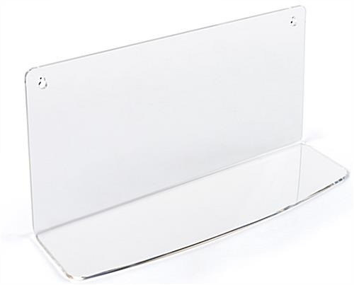 5.8in surface on clear acrylic shelf for LECTALAC series lecterns