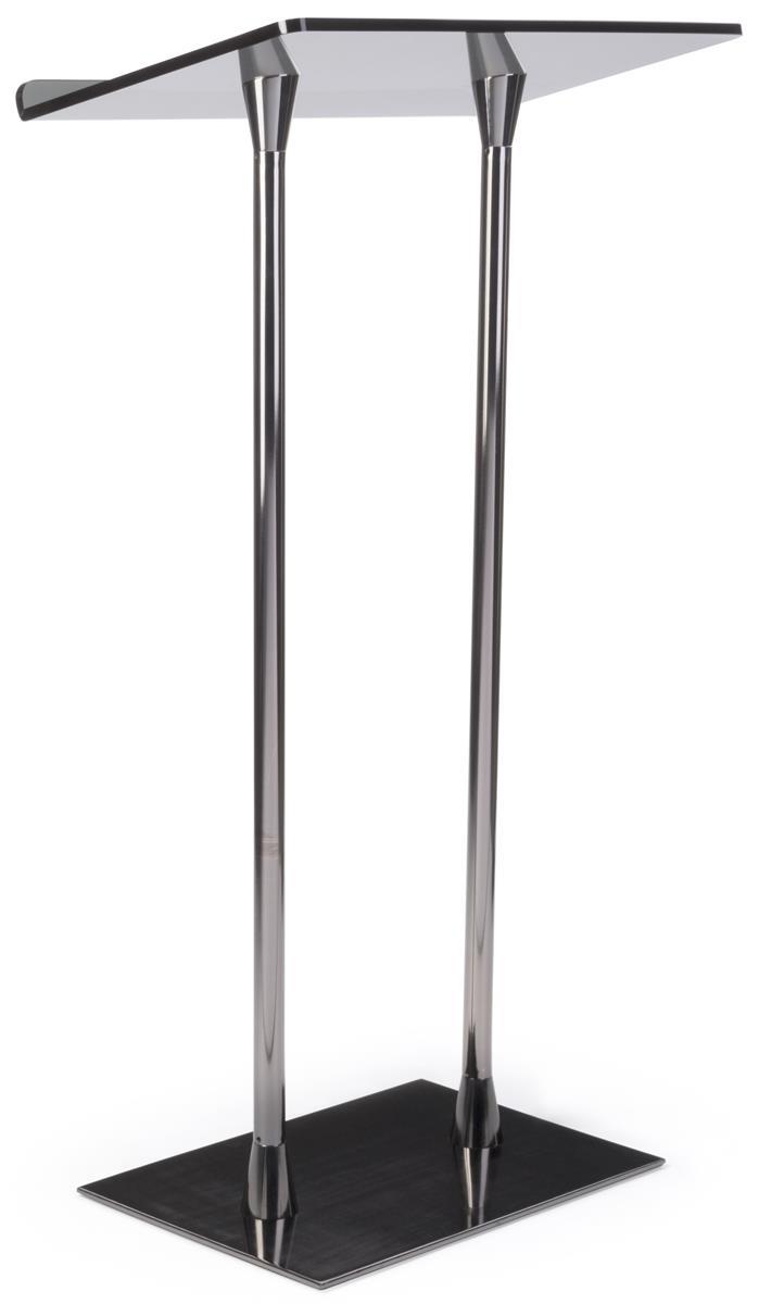 Simple Podium Jet Black Steel Poles