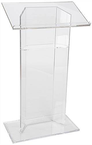 "Acrylic Lectern, .75"" Base Height"