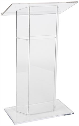 """CV"" Clear Plexiglass Lecterns"