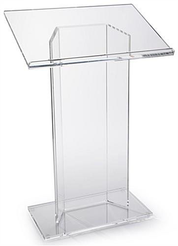"Large Top ""CV"" Acrylic Podium for Papers"