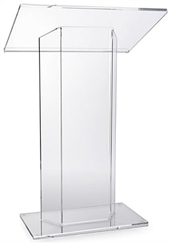 "Sleek Large Top ""CV"" Acrylic Podium"