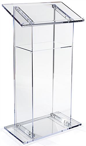 Acrylic Lectern with Interior Shelf
