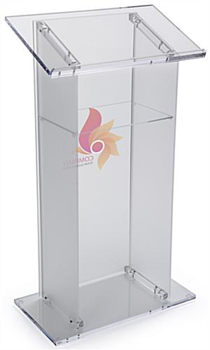 Branded Lectern Podium, Frosted