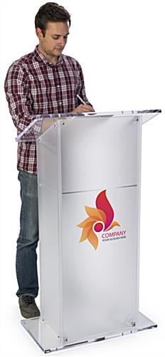 Branded Lectern Podium with Rectangular Base