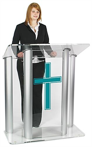 Wide Pulpit with Traditional Cross Ships Fully Assembled