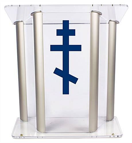 Wide Pulpit with Orthodox Cross for the Ultimate Church Display
