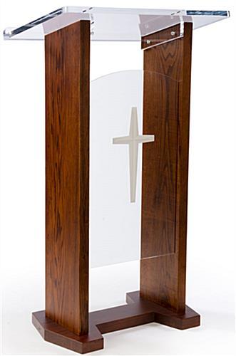 Podium pulpit solid oak base sides